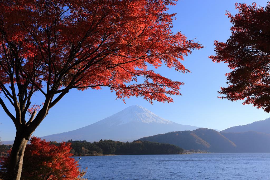 Der Vulkankegel des Mount Fuji.
