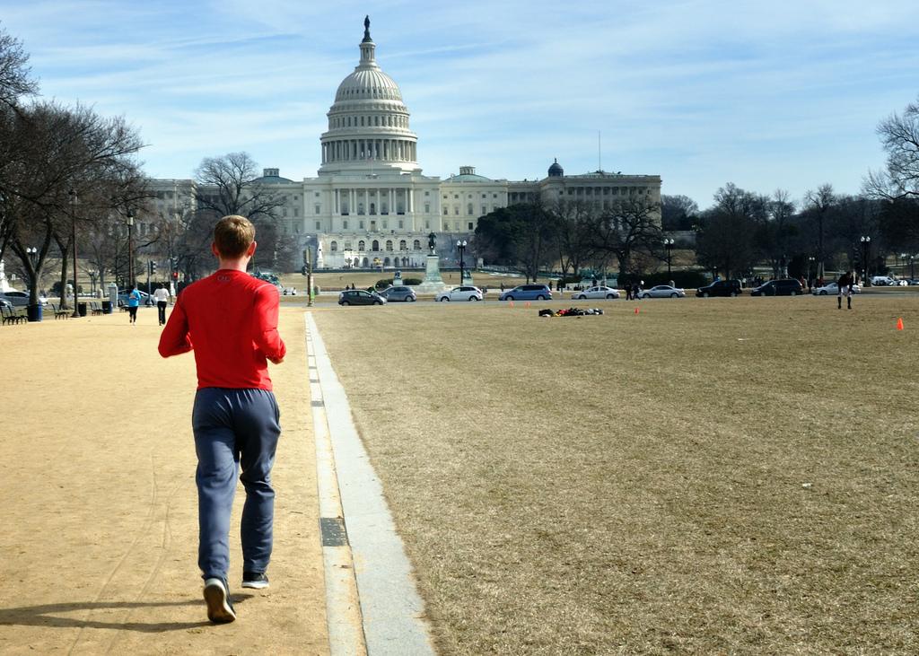 jogging in Washington
