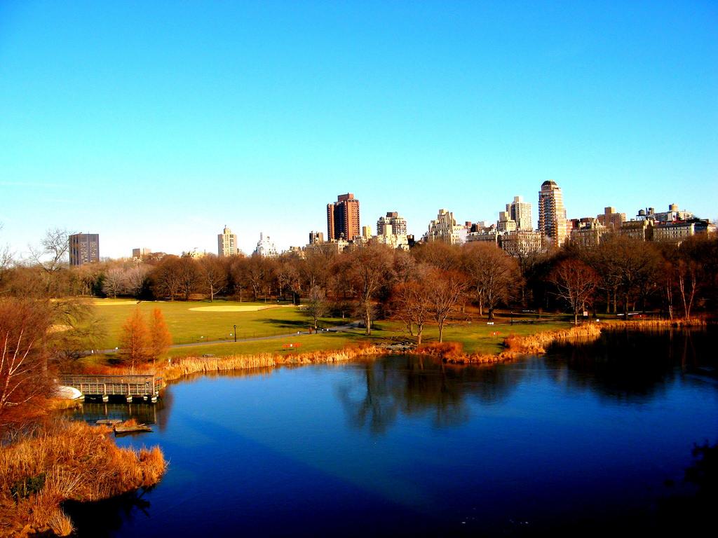 Central Park lake photo