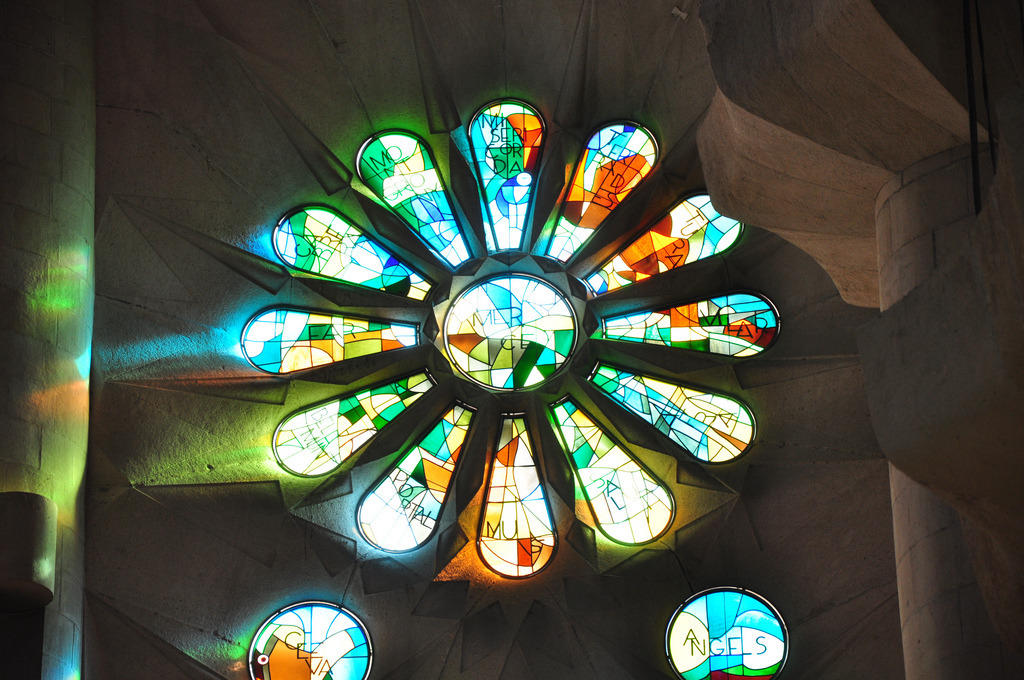 Sagrada Familia Glasfenster