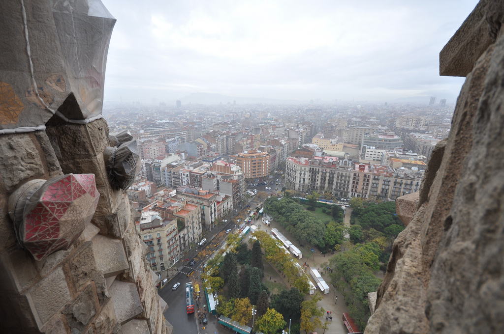 Sagrada Familia view from tower photo