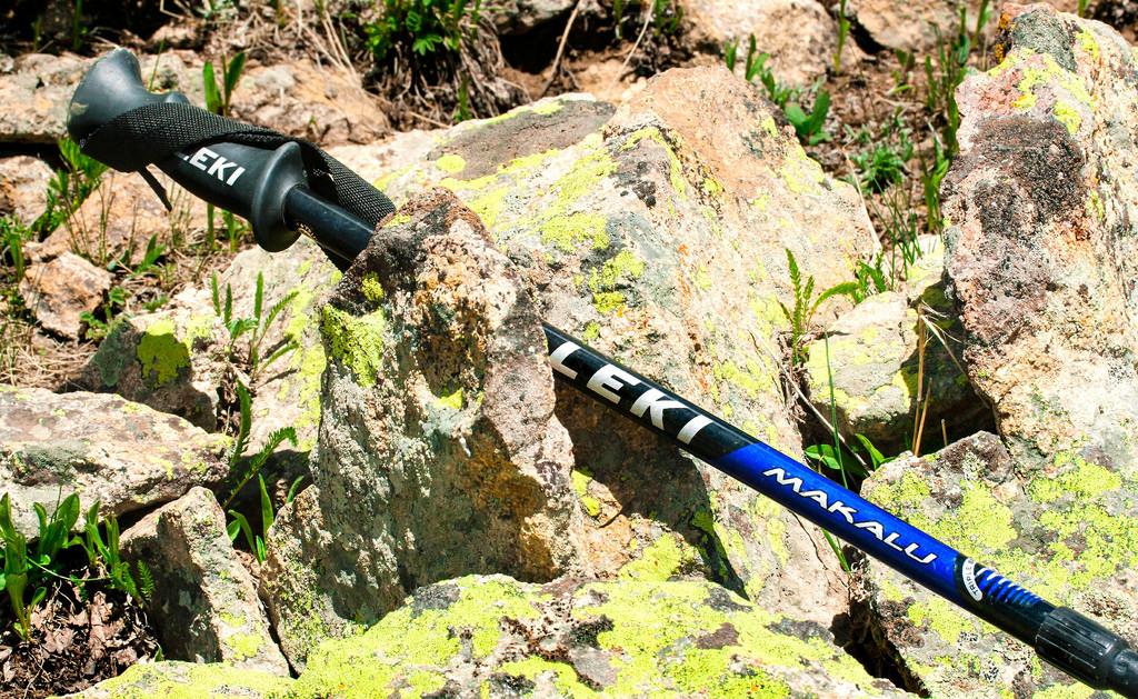 trekking poles photo