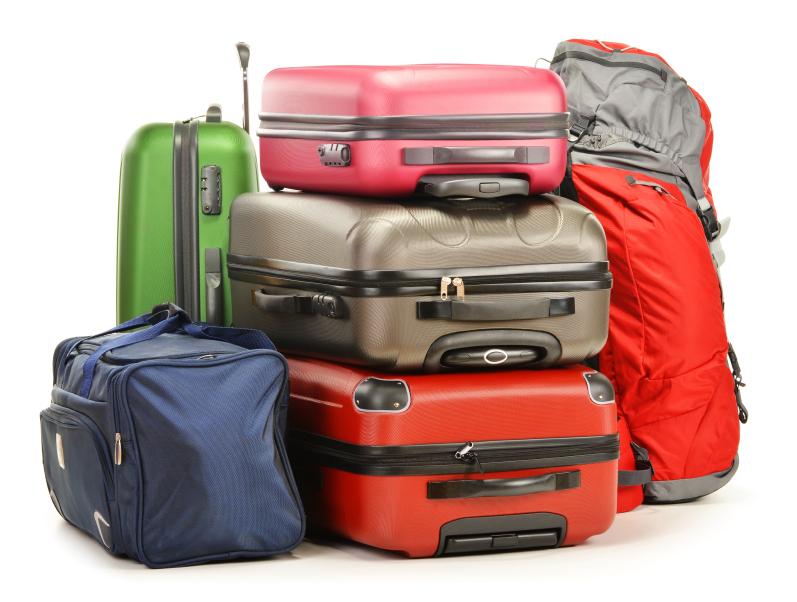 Wo packt man Schlafsack, Kleidung... am besten ein? Je mehr Gepäckstückte, desto mehr Überflüssiges nimmt man mit.